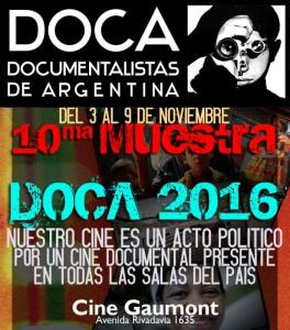 Mañana arranca la 10ª Muestra DOCA 2016 2