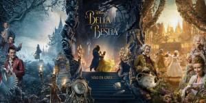 Póster tríptico de La Bella y la Bestia 1