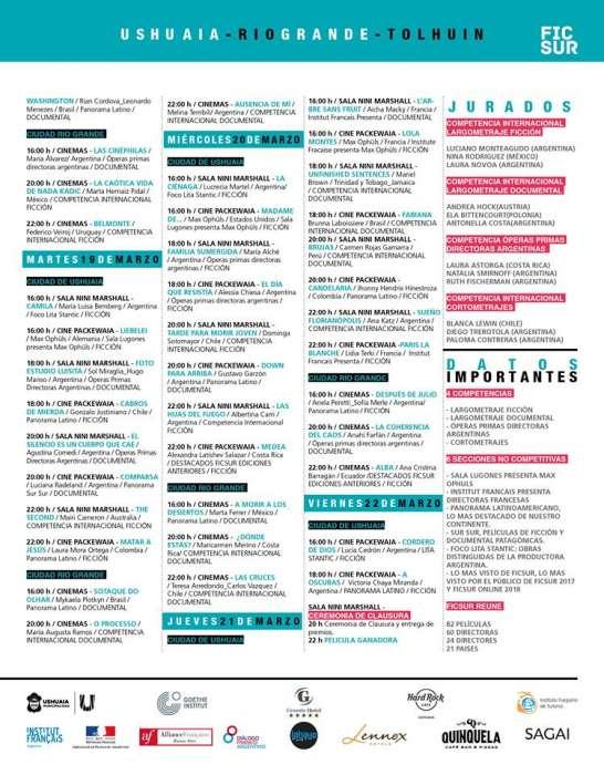 Ficsur 2019: Película apertura y programación completa 5